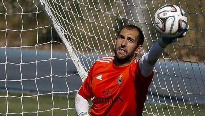 Diego López en un dels seus últims entrenaments amb el R. Madrid (Foto: EFE)