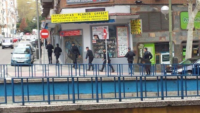 L'alarma ha provocat un considerable desplegament policial al centre de Madrid