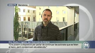 """Eloi Badia: """"Podem parlar de les activitats que es feien al banc, però condemnem els aldarulls"""""""