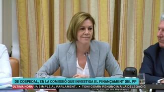 Imatge de:Tensa compareixença de De Cospedal a la comissió sobre el finançament del PP