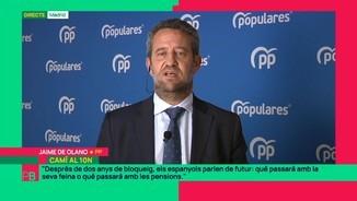 """Imatge de:Jaime de Olano (PP): """"Cal esperar la sentència. I cal acatar-la. Cap espanyol està exempt de retre comptes a la justícia"""""""