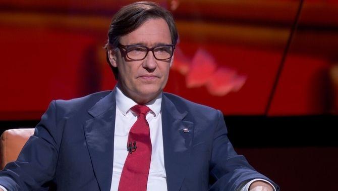 Salvador Illa, durant l'entrevista a TV3