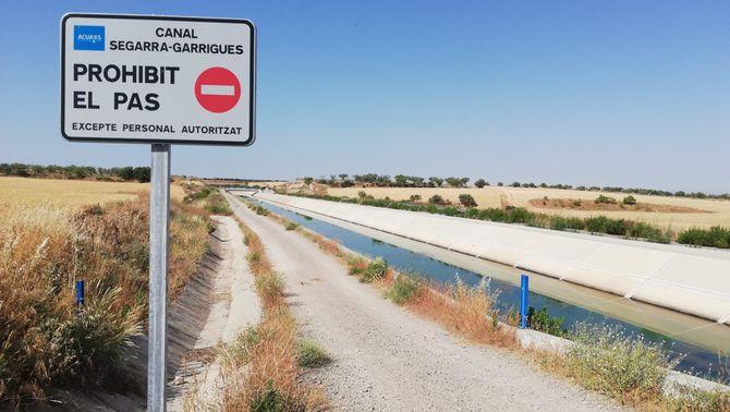 Un nen de 7 anys, en estat greu després de caure al canal Segarra-Garrigues a Tàrrega