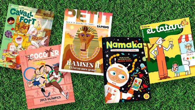 Les millors revistes infantils i juvenils en català: Petit sàpiens, Cocoter, Namaka, Cavall fort i El tatano