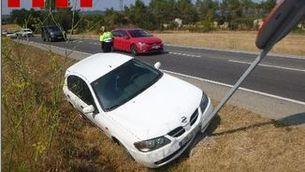 Denuncien penalment un conductor begut que multiplicava per cinc la taxa permesa després d'accidentar-se a Llagostera