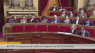 Error del PP al Parlament sobre la consulta