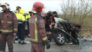 Set morts en un accident a l'N-II