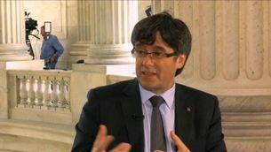 """Puigdemont a la CNN: """"Els que han votat per la independència no es quedaran a casa"""""""