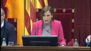 Carme Forcadell, al Parlament