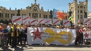 Concentració en suport als independentistes empresonats, aquest diumenge a València