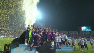 El Barça supera el Sevilla (1-2) i aixeca la Supercopa, el primer títol de la temporada