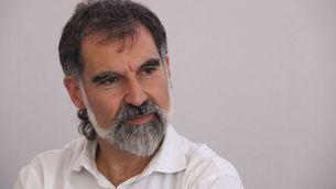 Jordi Cuixart a la seu d'Òmnium, pocs dies abans d'entrar a la presó (ACN)