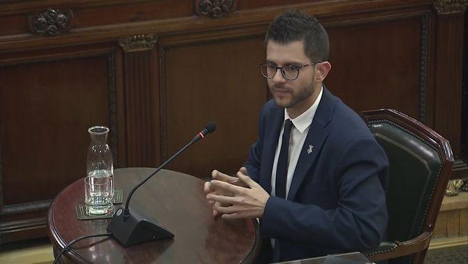 Eloi Hernàndez, alcalde de Fonollosa, declarant al Suprem