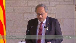"""El president Torra denuncia que la Junta Electoral Central actua amb """"intencionalitat política"""""""