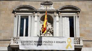 El TSJC dona 48 hores a Torra per tornar a retirar de Palau la pancarta pels presos