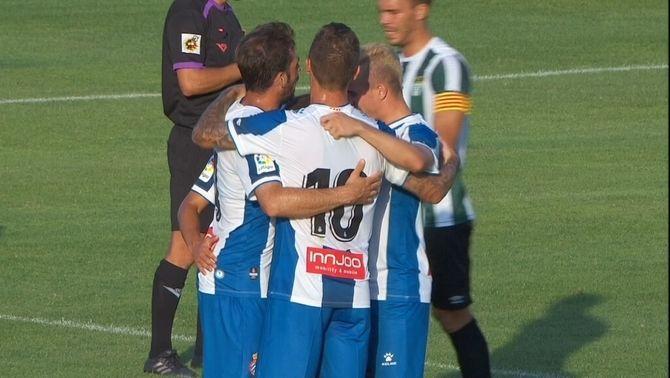 L'Espanyol goleja el Peralada en el primer partit de pretemporada (0-6)