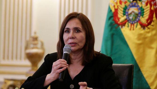 La ministra d'Exteriors del nou govern de Bolívia, Karen Longaric (Reuters)