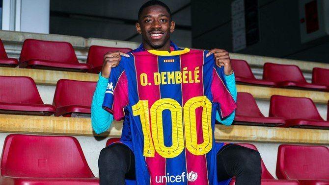 Ousmane Dembélé, centenari amb el FC Barcelona