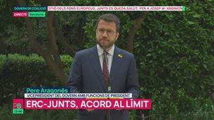 """Pere Aragonès: """"Tenim entesa per posar en marxa la nova Generalitat republicana"""""""