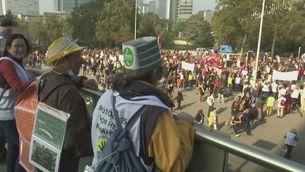 Manifestació massiva a Brussel·les contra el canvi climàtic