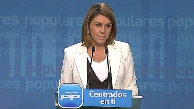 """De Cospedal: """"Espanya no pot perdre un any més"""""""