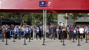 Jornada electoral al Camp Nou