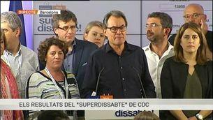 """Intervenció d'Artur Mas després del """"superdissabte"""""""