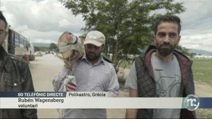La policia desallotja un camp a prop d'Idomeni