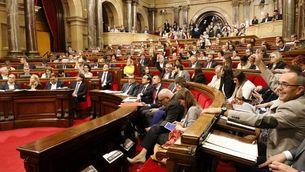 El ple del Parlament de Catalunya, aquest dimecres quan ha votat a favor de canviar l'ordre del dia (ACN)