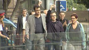 Josep Maria Jové i Lluís Salvadó surten del jutjat després del 20S