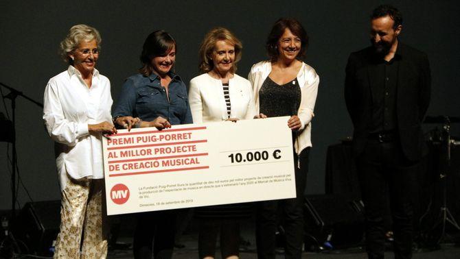 Núria Andorrà rep el Premi Puig-Porret 2019 dotat amb 10.000 euros durant el concert inaugural del Mercat de Música Viva de Vic 2019 (Horitzontal). …