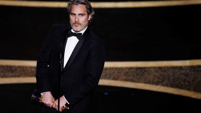 """Els discurs animalista de Joaquin Phoenix als Oscars: """"Ens creiem el centre de l'univers"""""""