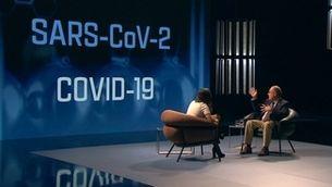 """Laia Servera i Antoni Trilla, al plató del programa """"El nou coronavirus. Volem saber"""""""