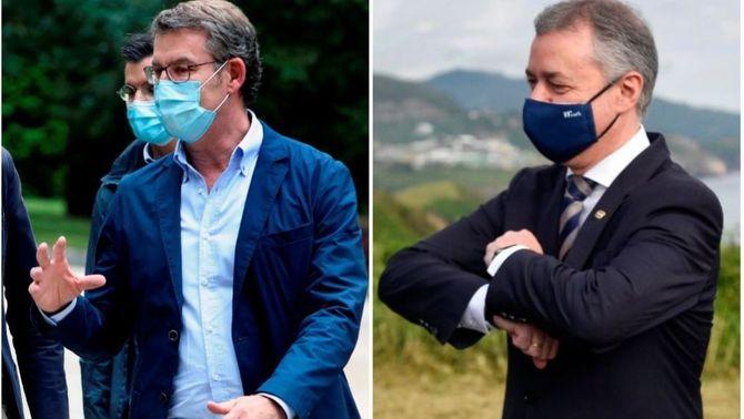 Els presidents Alberto Núñez Feijóo i Iñigo Urkullu
