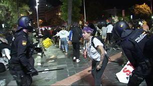 16 detinguts a Palma en una protesta pel manteniment del toc de queda a les Balears