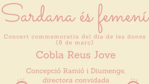 """Cartell del concert """"Sardana és femení""""."""