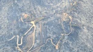 """""""El paisatge ha desaparegut del tot"""": el foc crema els voltants del castell de Queralt"""