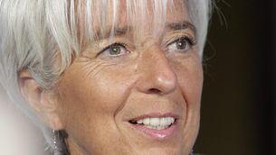 Christine Lagarde ha mantingut una trobada amb periodistes a Riga (Foto: EFE)