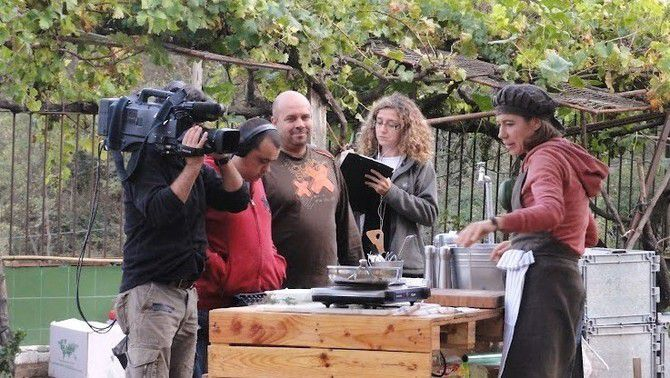 """Un moment del rodatge de """"Benvinguts a l'hort"""""""