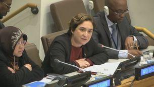 Colau i Rull intervenen a l'ONU a Nova York