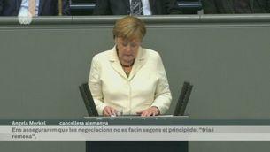 Merkel al bundestag per explicar el full de ruta post Brexit