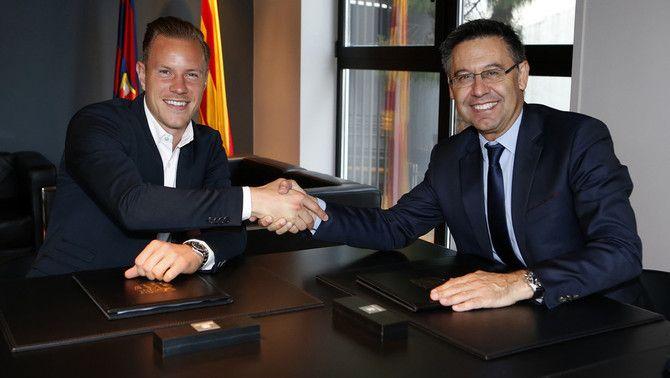 Marc-André ter Stegen firma la seva renovació amb el Barça fins al 2022