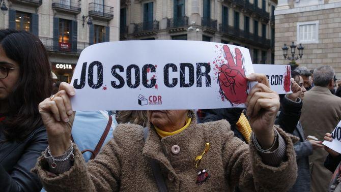 Concentracions de suport als CDR després de les acusacions per terrorisme