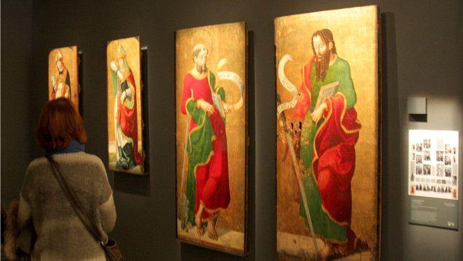 Algunes de les peces de Sixena que hi havia al Museu de Lleida