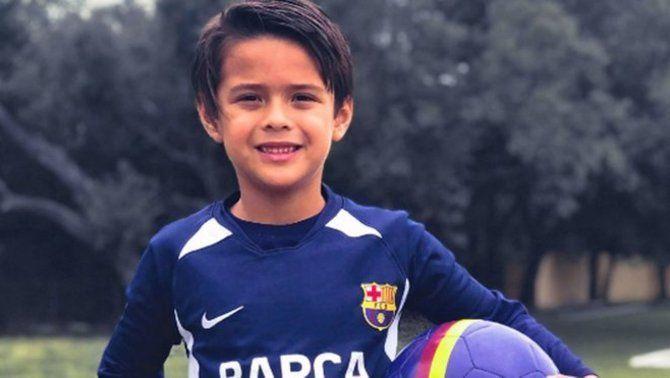 Thiago Cibrian, el nen que viatja sis hores amb cotxe per entrenar-se a la Barça Academy d'Austin