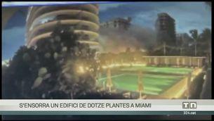 Una càmera de seguretat capta l'esfondrament de l'edifici de 12 plantes de Miami Beach
