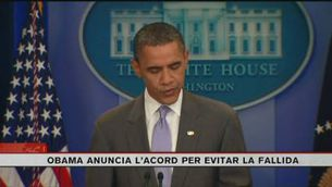 """Obama: """"Hem arribat a un acord que reduirà el dèficit i evitarà la fallida"""""""