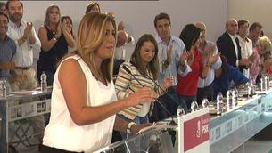 Susana Díaz ha estat llargament aplaudida al comitè director d'Andalusia