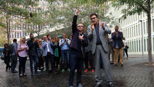 Josep Maria Jové i Lluís Salvadó surten del jutjat després del 20S (ACN)