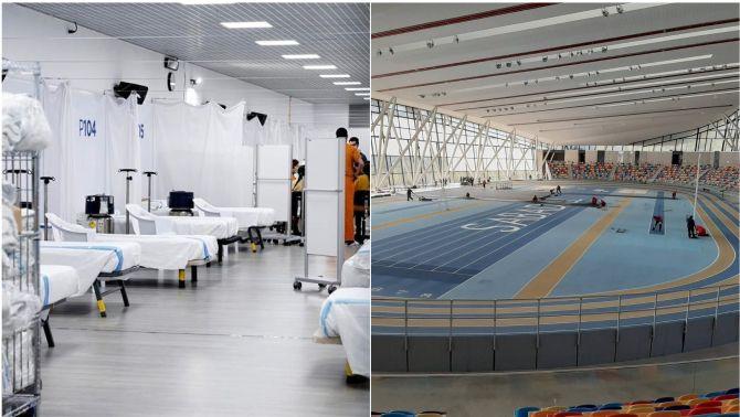 Diversos recintes esportius, convertits en hospitals pel coronavirus